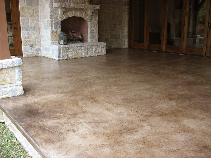 kona brown stained concrete side view