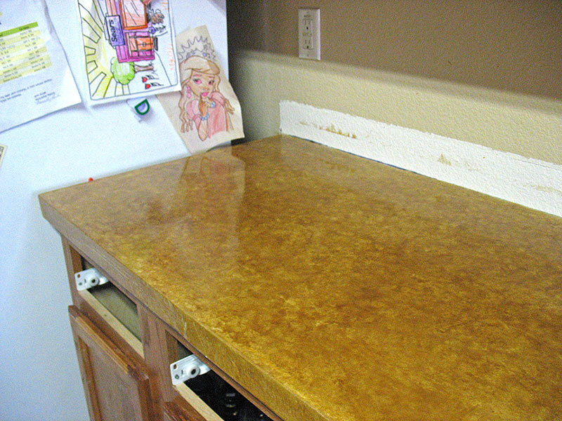 top of stained concrete countertop
