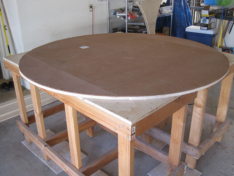 masonite used a a weight reducer for the table