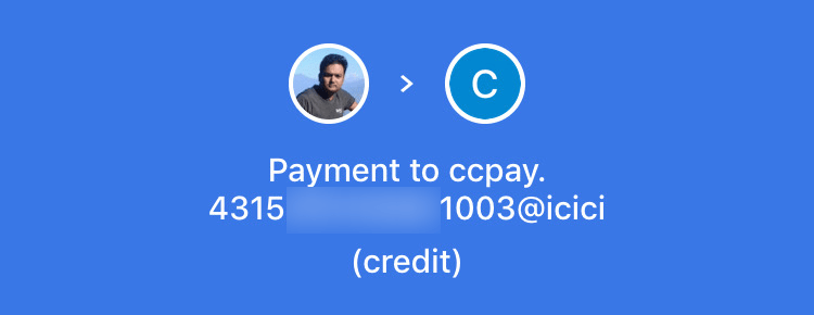 Pay credit card using Google Pay