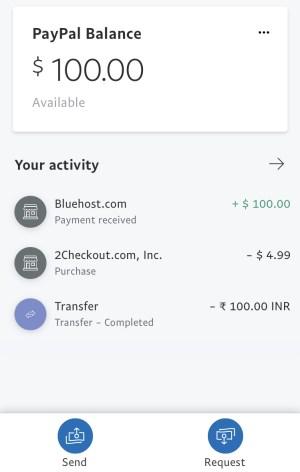 Paypal India app