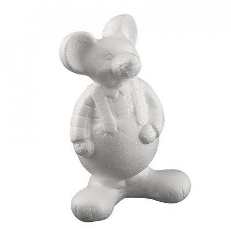 souris habillee debout en polystyrene dim 21 x 13 cm a customiser et decorer