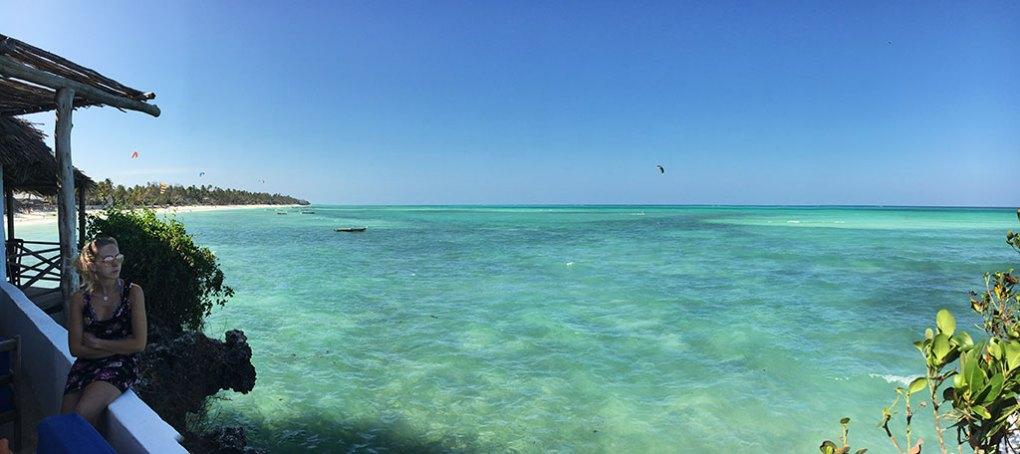 Veduta dalla terrazza del The Rock Zanzibar