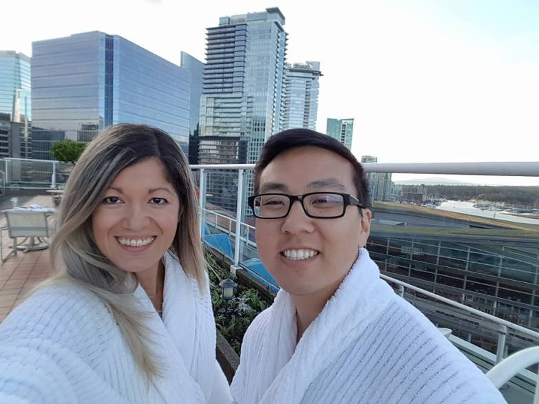 Rooftop Pool at Pan Pacific Vancouver
