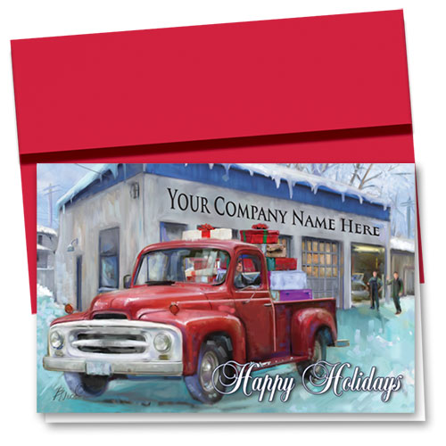 Double Personalized Full Color Holiday Card Homebound