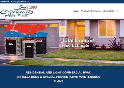 Solia Releases New Creekside Air Website!