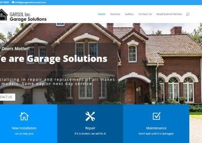 Solia Media Site Design for Garage Solutions Atlanta