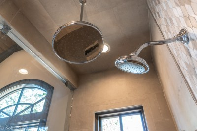 Preissless Design Interior Design - Lake Oconee property - Shower Heads - photography by Solia Media