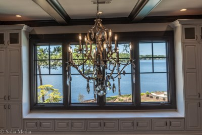 Preissless Design Interior Design - Lake Oconee property - dining room lake view - photography by Solia Media