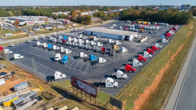 Solia Media Drone Image of Trucking Company - Select Trucks of Atlanta - McDonough - Best drone services
