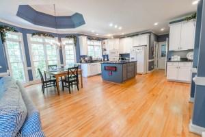 40 Highland Ridge, Oxford GA - Blue and White Kitchen- Solia Media Real Estate Photography