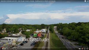 Solia Media Drone Services - Video of Operation Gratitude CSX Train Passing Through Conyers Georgia - Olde Town