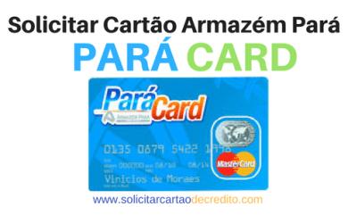 SOLICITAR CARTÃO DE CRÉDITO PARÁ CARD