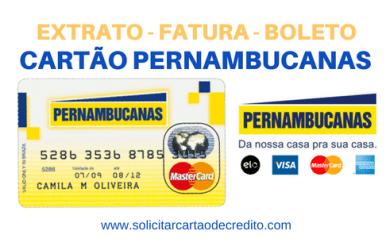 EXTRATO FATURA E BOLETO CARTÃO PERNAMBUCANAS