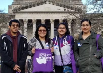 In front of the Capitol building. (L-R): Mark Sheran, Sally Mary de Leon, Bernadette Sheran, & Andrea Gomez