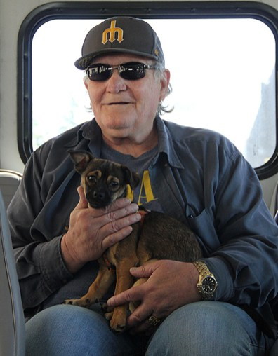 """Regular"" Circulator riders Mickey & Thumper (photo by Lara Breitkreutz)"