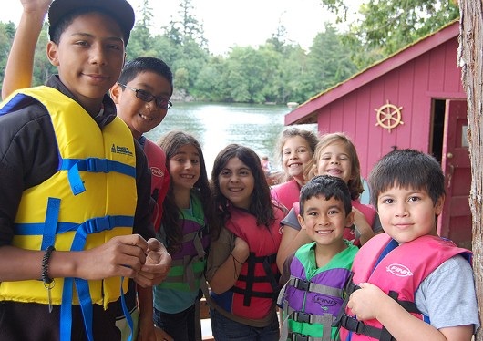Kids ready for boating! (photo used with permission of the YMCA)