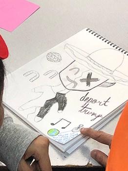 "Superhero art: ""Deport Trump"""