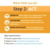 Solid Ground's Undoing Racism brochure - What YOU can do - Step 2: ACT