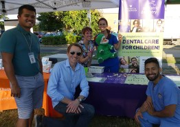 Five people with UW's The Center for Pediatric Dentistry