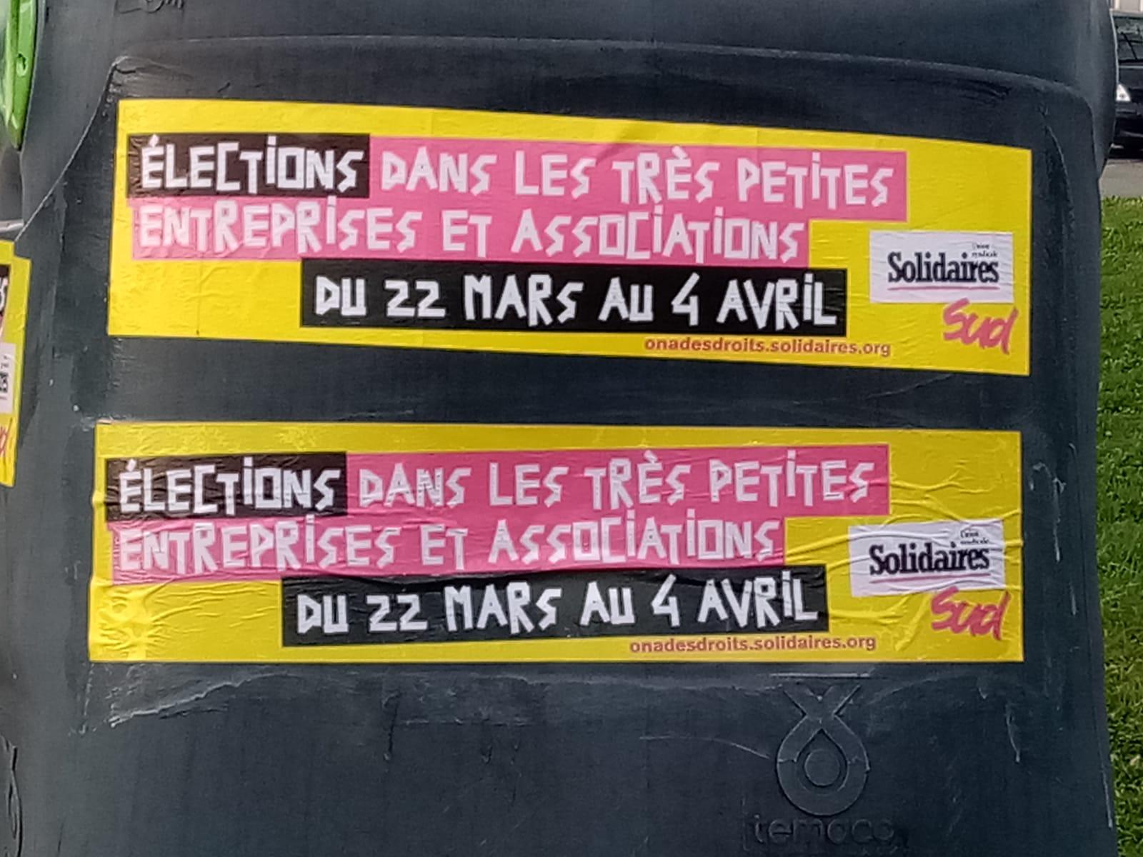 Élections professionnelles #TPE #TPA 22 mars au 6 avril je vote #Solidaires