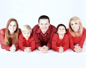familia tres hijos