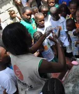 lavage main haïti