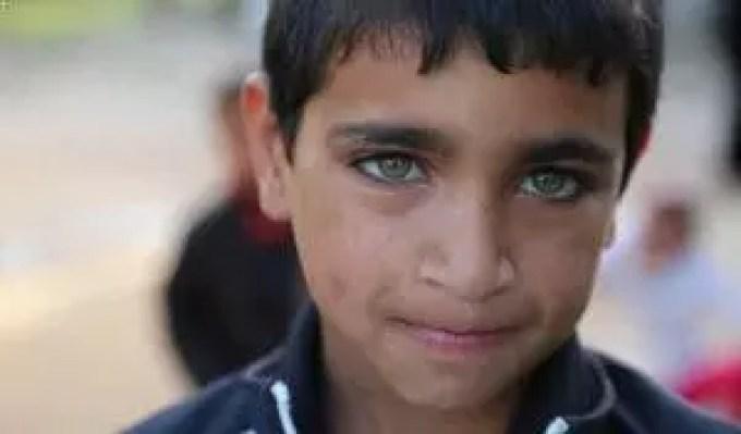 Enfant yeux verts Wou Ba'aden Liban