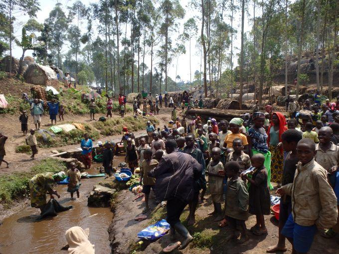 RDC, Nord Kivu : des sites spontanés ont été érigés pour accueillir 30 000 personnes