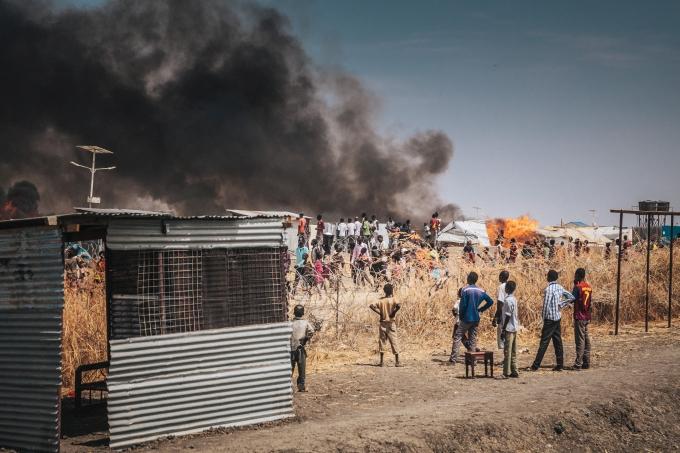 Soudan du Sud Attaque du camp