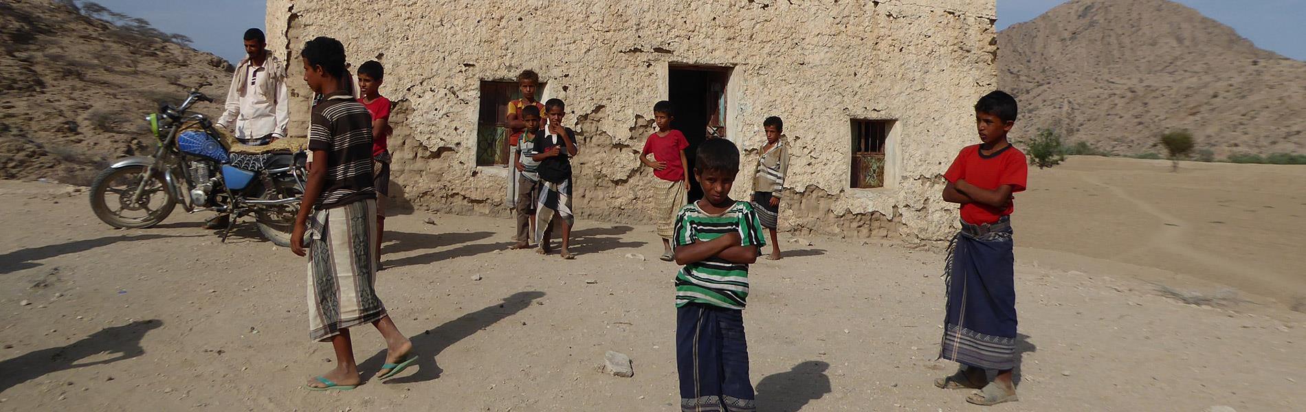 Yémen Enfants Désert