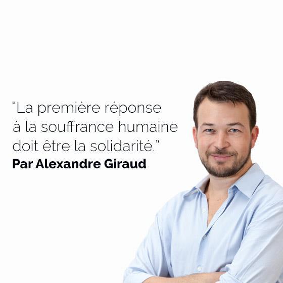 Alexandre Giraud Répondons Solidarité
