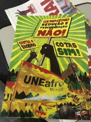 Signs from May Day rally in São Paulo. Credit: Courtney Jenkins
