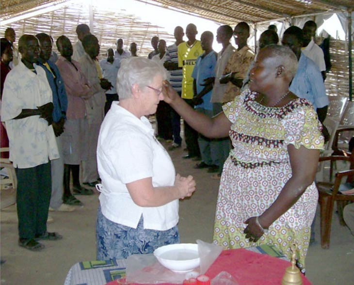 Sr Annette St. Amour blessed by National Pastoral Team in South Sudan