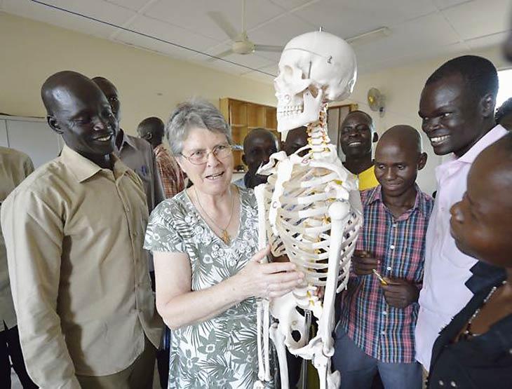 Sr Nora training new nurses in South Sudan