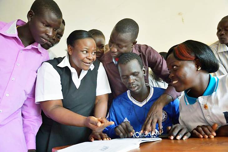 South Sudan teachers being trained