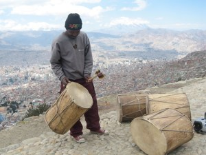 Photo of a Saya Musician with a Drum