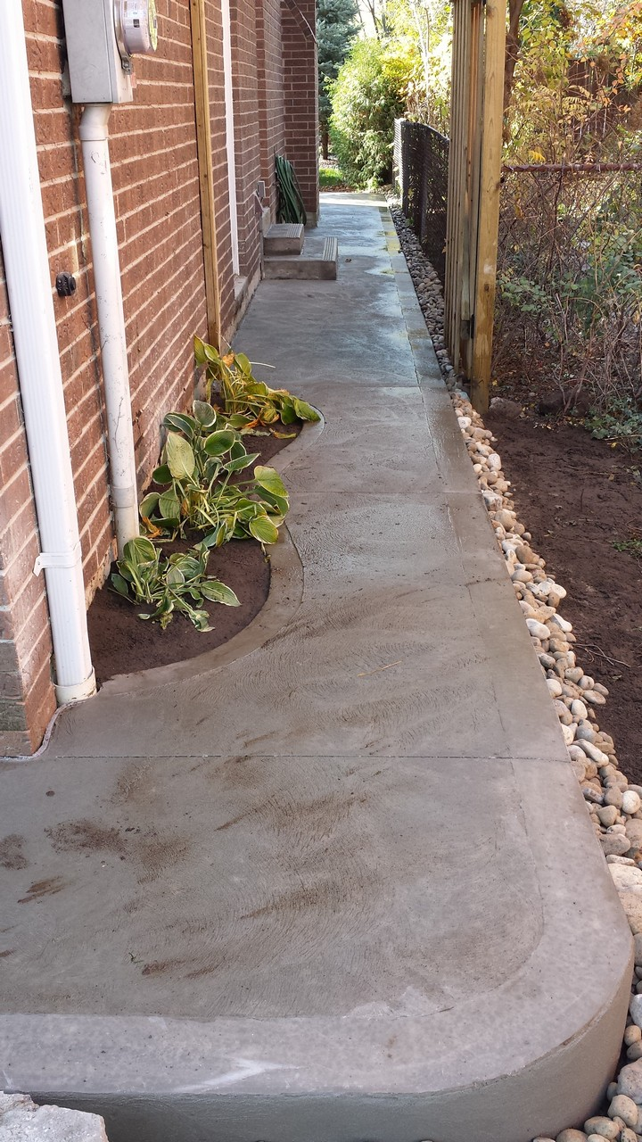 Side House Walkway | Solid Concrete Solutions on Side Yard Walkway Ideas id=65809