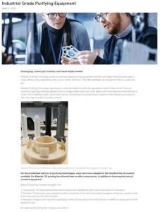 Raise3D Application - Industrial Grade Purifying Equipment