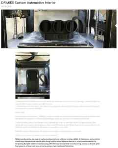 Raise3D Application - DRAKES Custom Automotive Interior