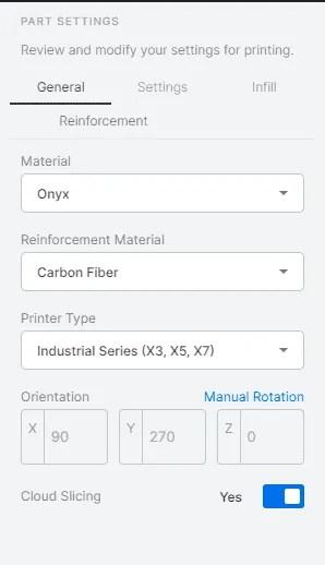 Markforged Eiger Materials