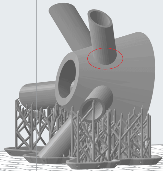 Example Of Self Supporting Overhang Preform 3D model