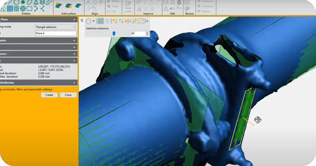 Peel 3d Software for Peel 2 CAD-S close up details