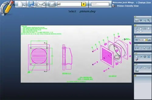 Cad on the web toss autocad edit dwg s online solidsmack for Online cad editor