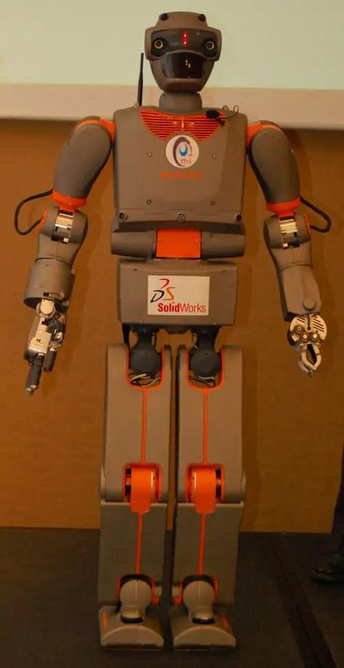 robot design in SolidWorks