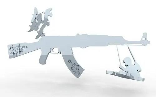 Stuart Fingerhut gunrack solidworks rendering