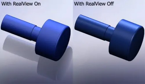 solidworks realview side-by-side