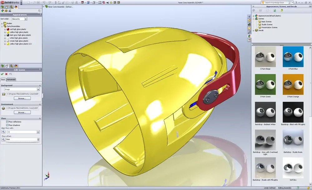 how to change solidworks settings