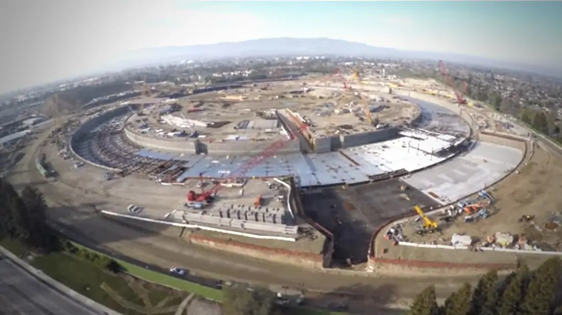 Apple's New Headquarters Revealed by Drone