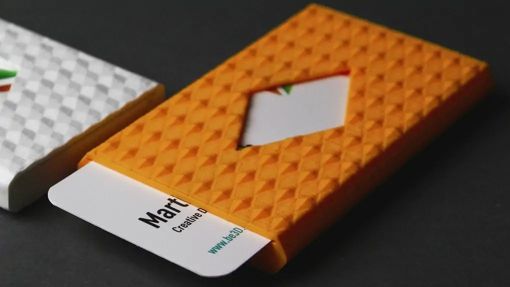 3d printed busines card holder 03 - 3 D Business Card